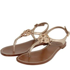 Tory Burch Rose Gold Flat Thong Sandal